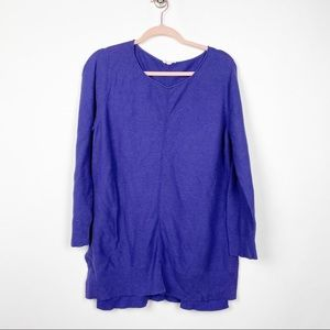 Eileen Fisher Organic Cotton Sweater Purple #0561